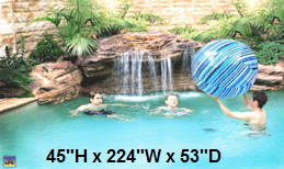 Aurora Swimming Pool Rock Waterfall kit