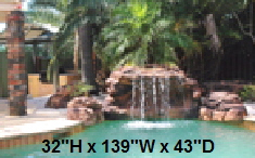 Canyon Swimming Pool Waterfall Kit