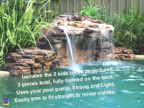 Swimming Pool Rock Waterfall Kit